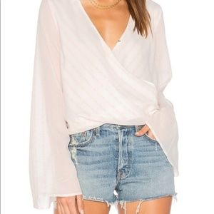 TJD The Jetset Diaries White Floral Bell Top Small